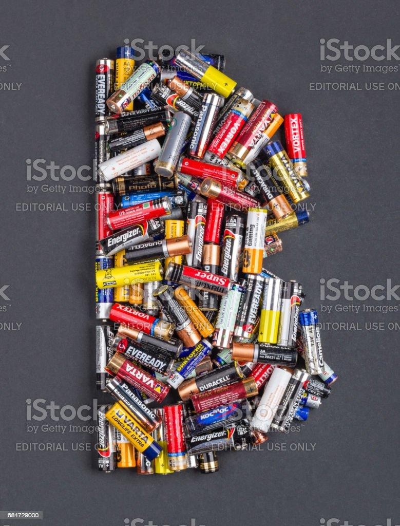 Batteries AA size stock photo