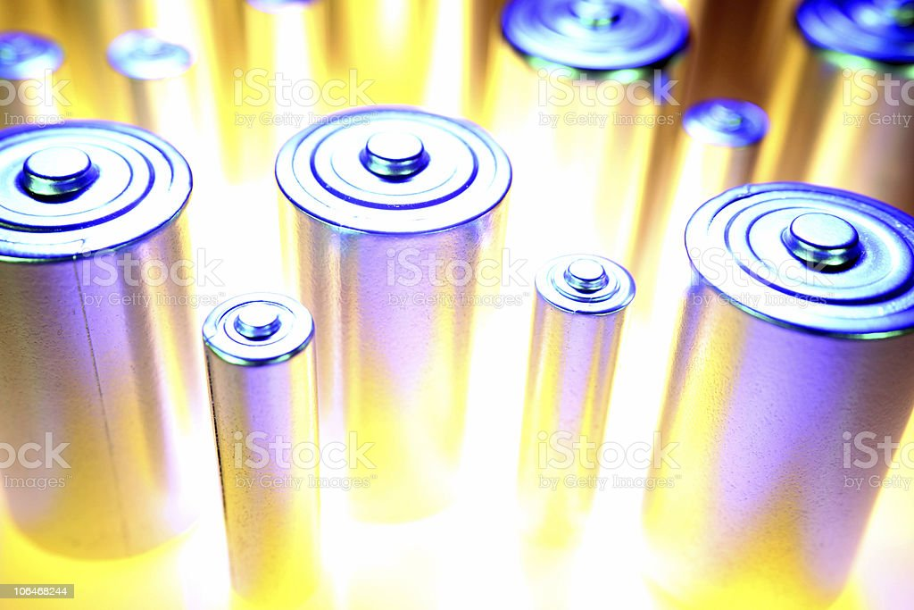 Batteries close-up royalty-free stock photo