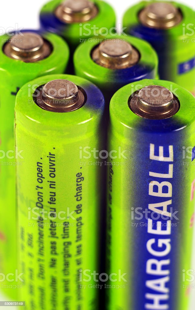 batteries closeup stock photo
