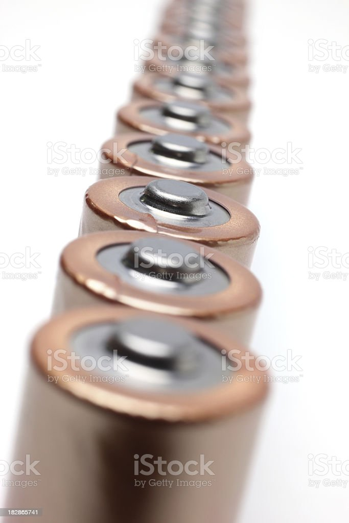 Batteries in a Row royalty-free stock photo
