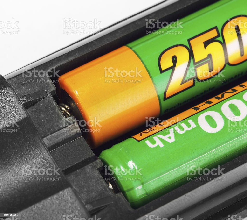 Batteries in remote control royalty-free stock photo