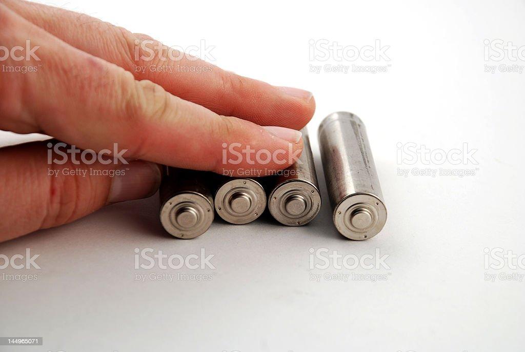 AA batteries stock photo