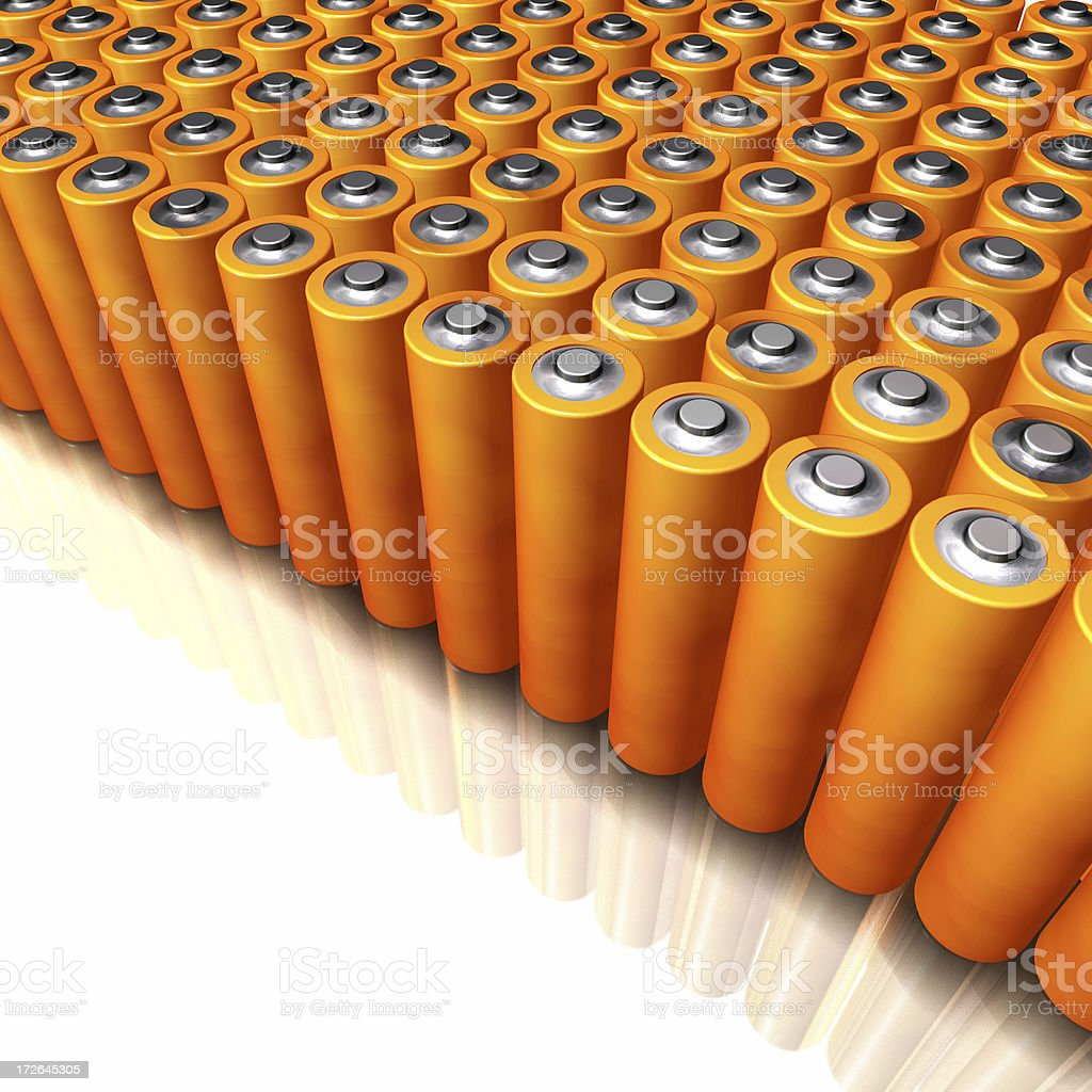 AA batteries royalty-free stock photo