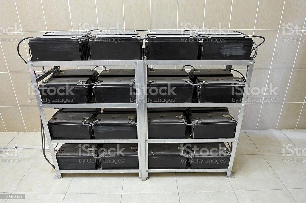 UPS Batteries stock photo