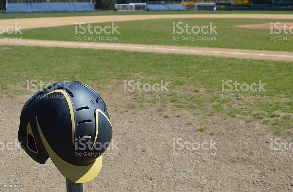 Batters Helmet stock photo