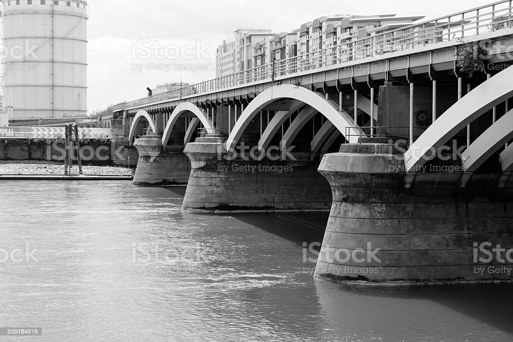Battersea Bridge stock photo