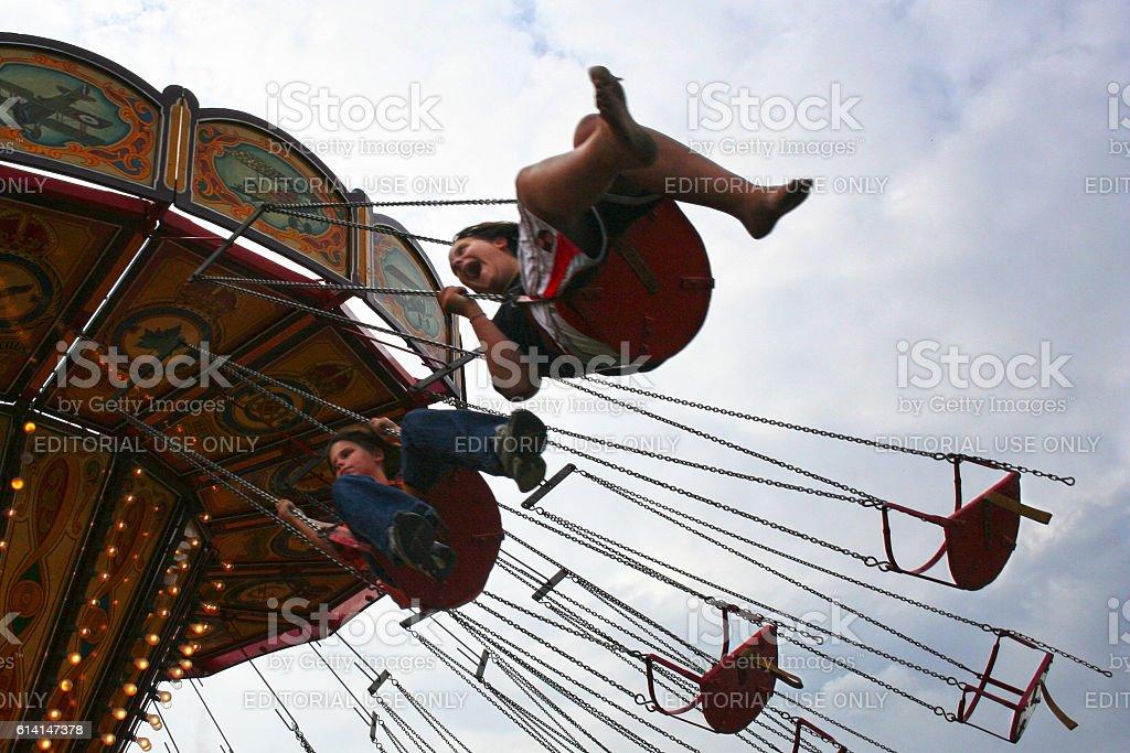 Battersea Fun Fair stock photo