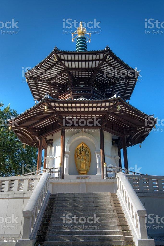 Battersea Park Peace Pagoda stock photo