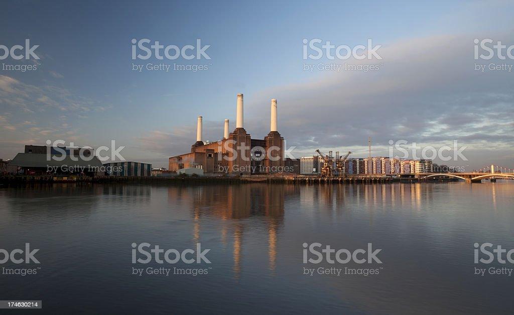 Battersea Power Station at Dawn stock photo