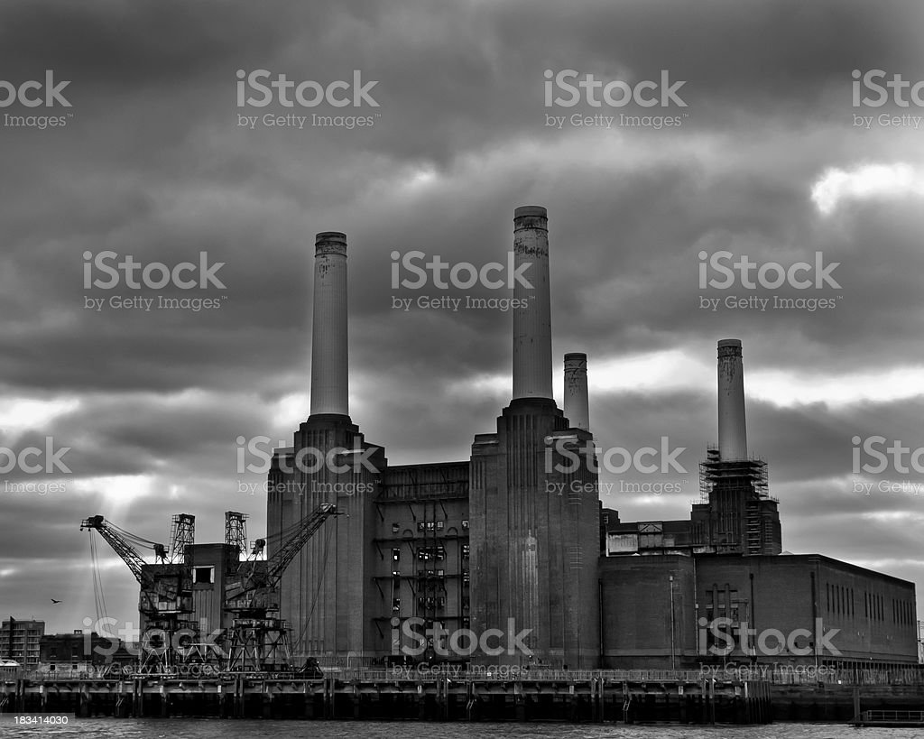 Battersea Power Station, London royalty-free stock photo