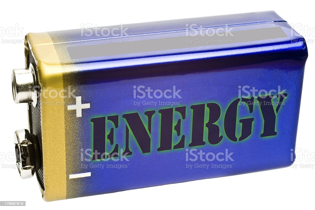 Battery 9V from side royalty-free stock photo