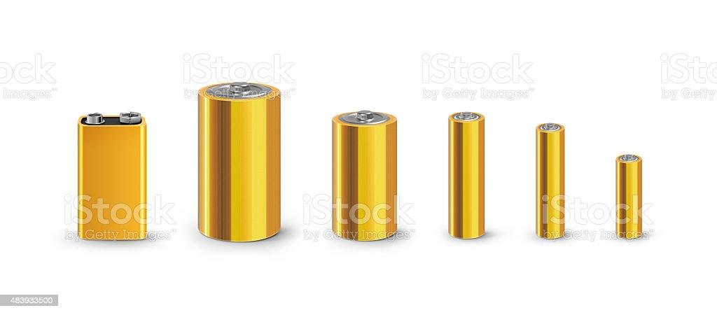 Battery accumulators bank stock photo