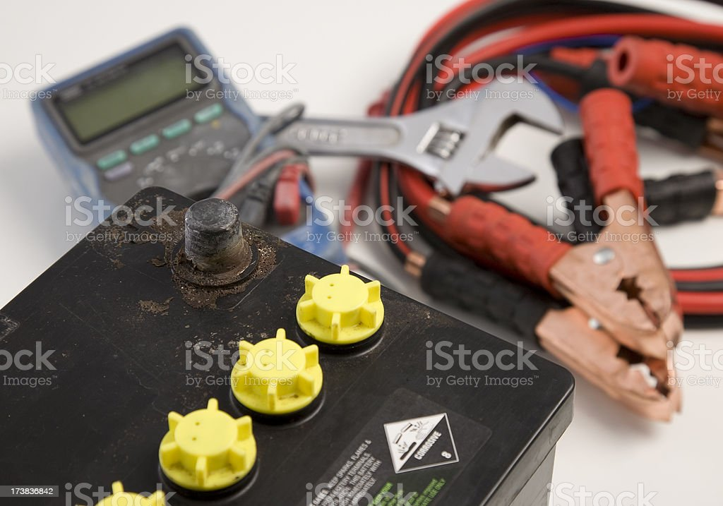 Battery and Equipment royalty-free stock photo