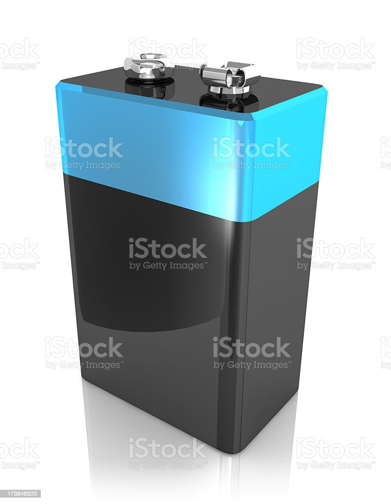 9V Battery Block stock photo
