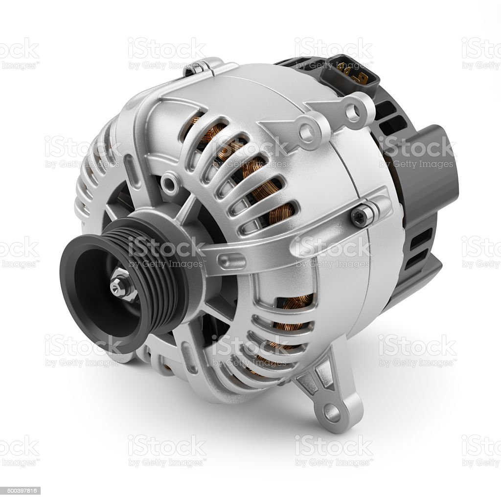 Battery charger generator stock photo