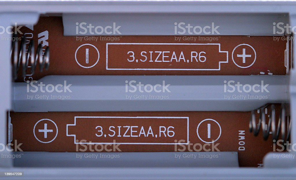 battery compartment royalty-free stock photo