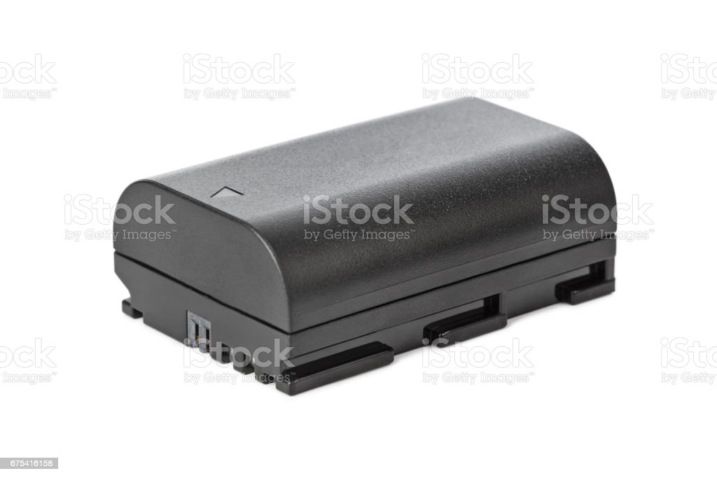 Battery for camera stock photo