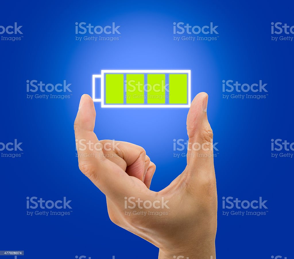 battery full icon stock photo