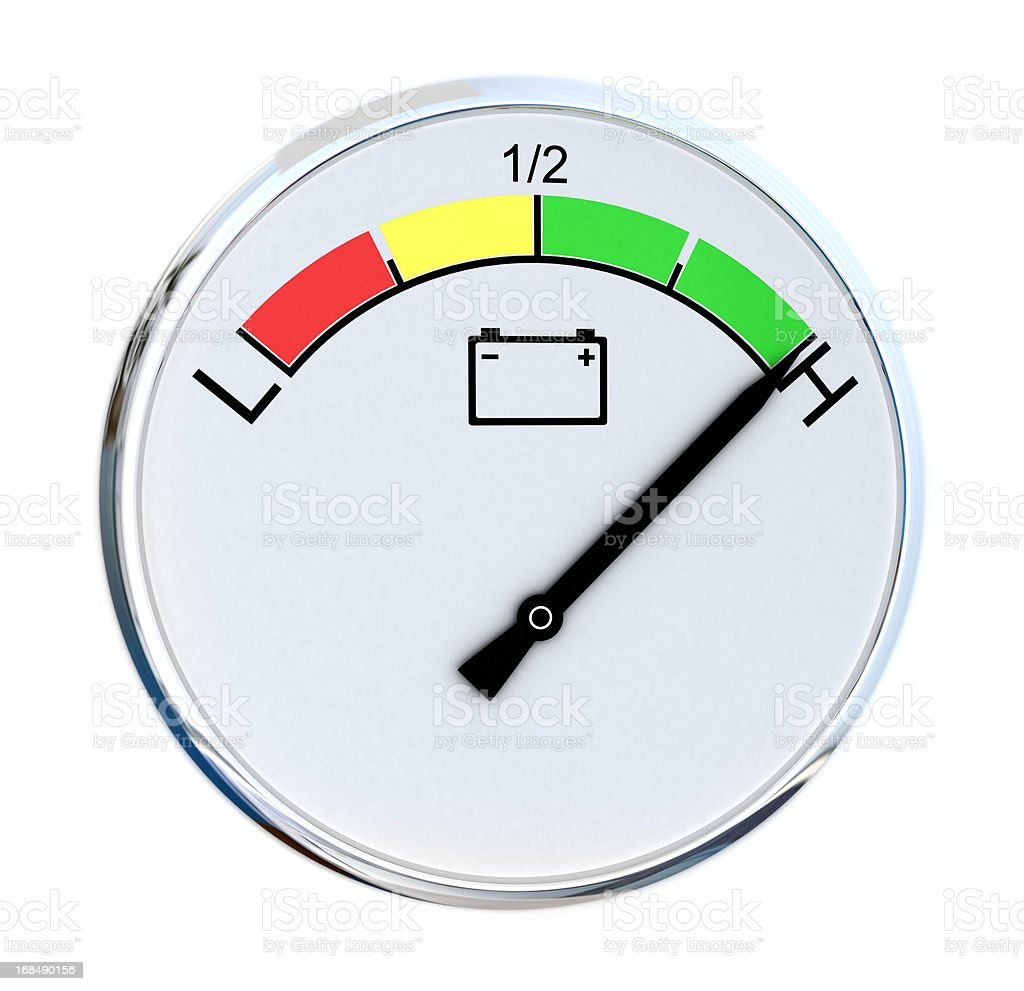 Battery Gauge royalty-free stock photo
