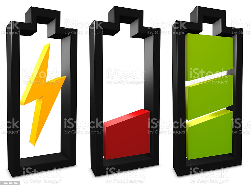 Battery icon royalty-free stock vector art