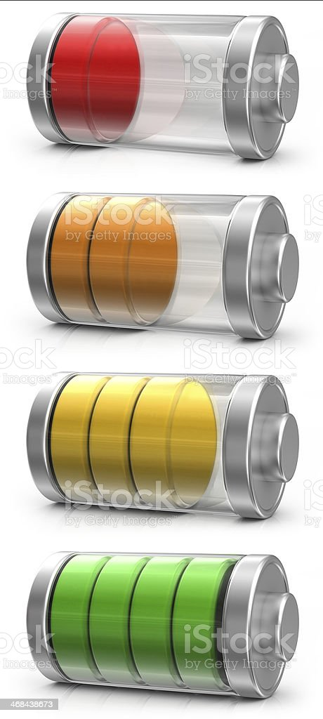 Battery Icons stock photo