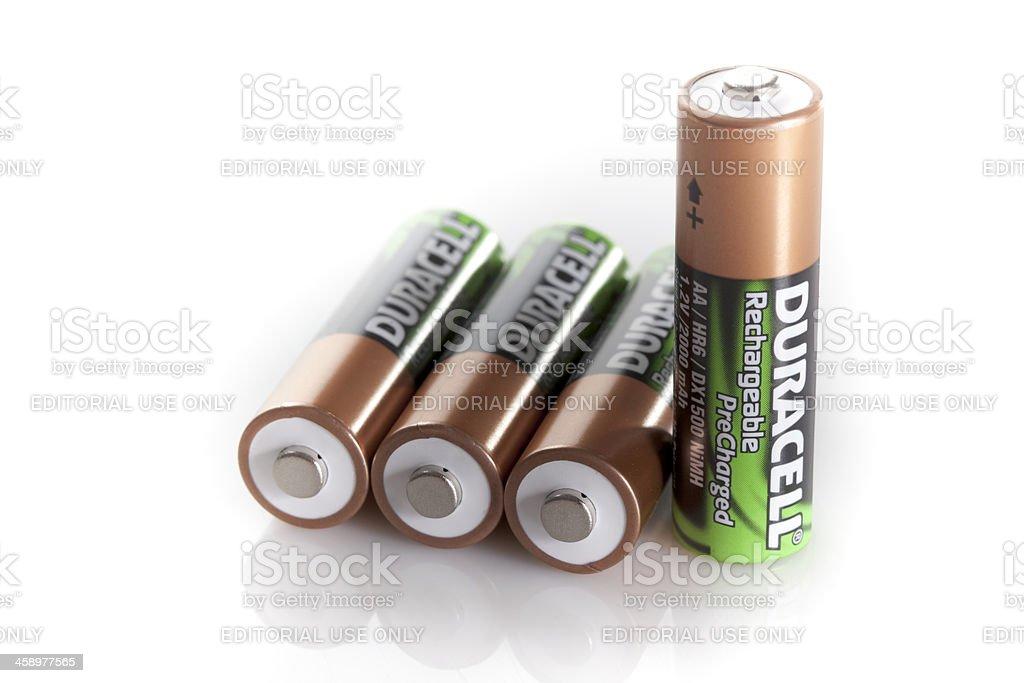 AA Battery isolated on white background stock photo
