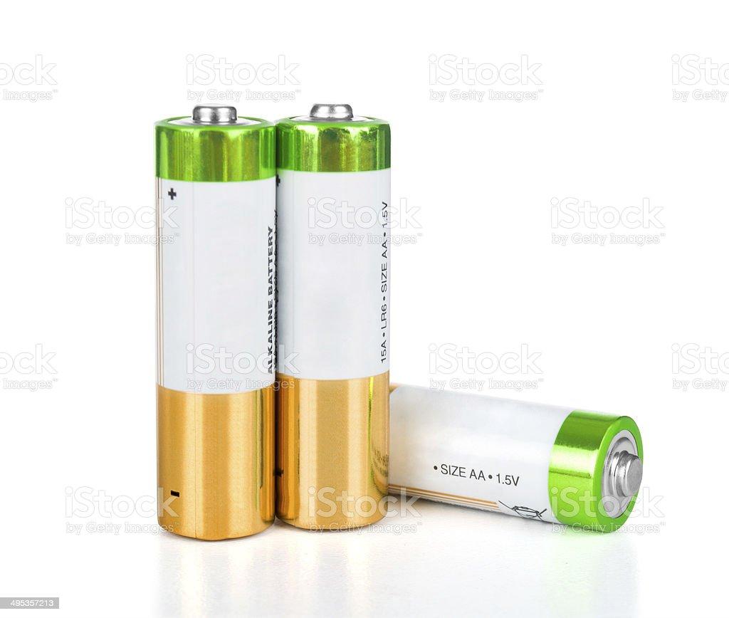 battery isolated on white background stock photo