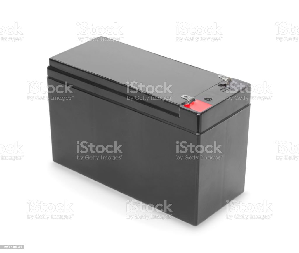 Battery isolated on white stock photo