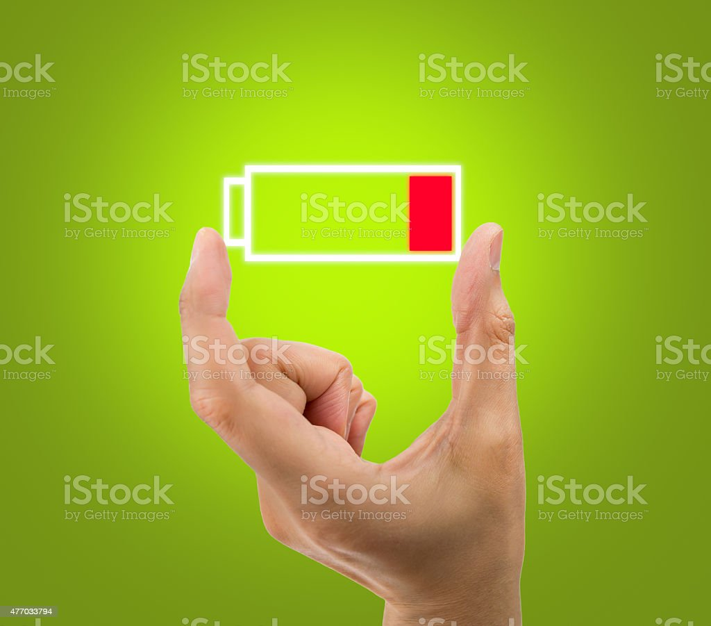 battery low icon stock photo