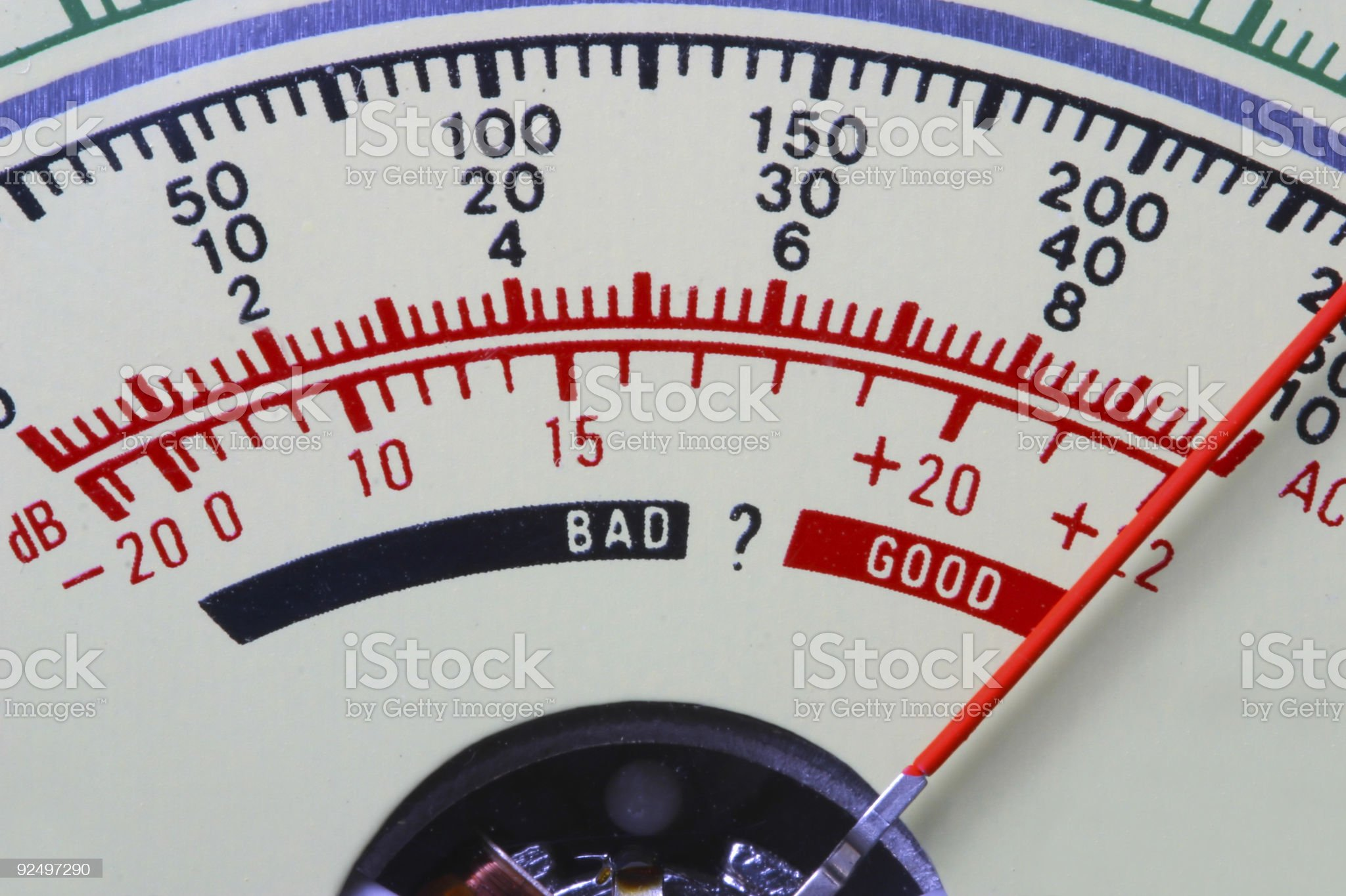 Battery Meter - Good royalty-free stock photo