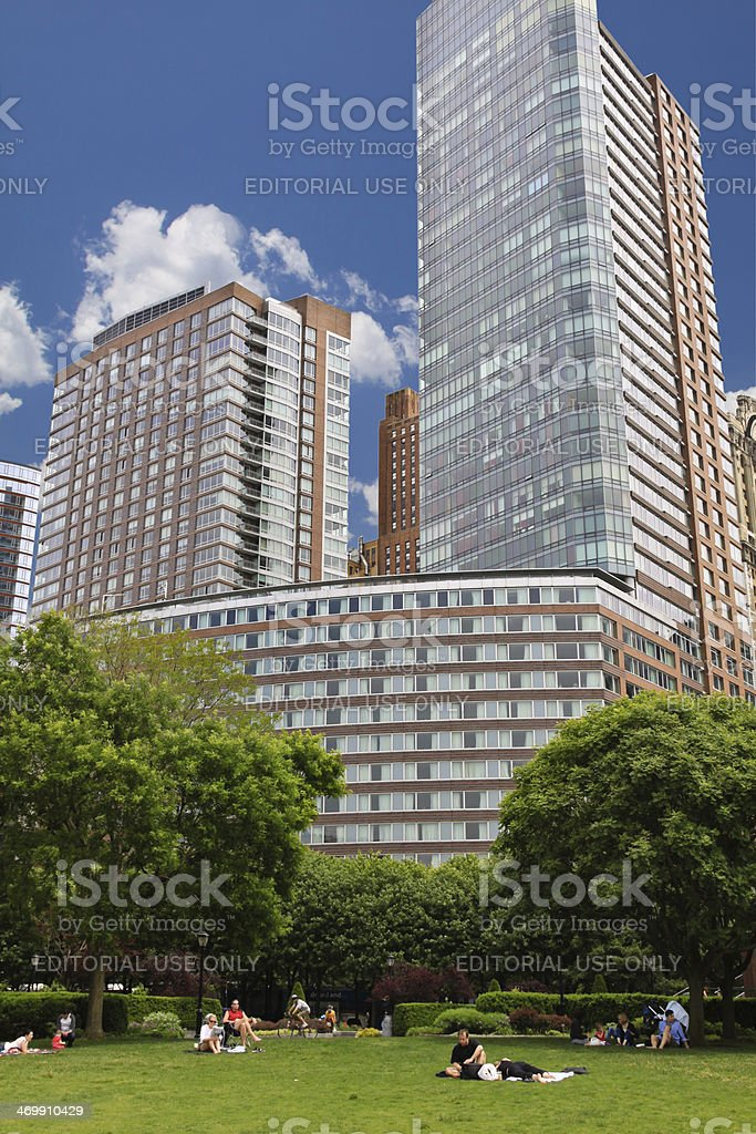 Battery Park City, Downtown Manhattan, New York. royalty-free stock photo