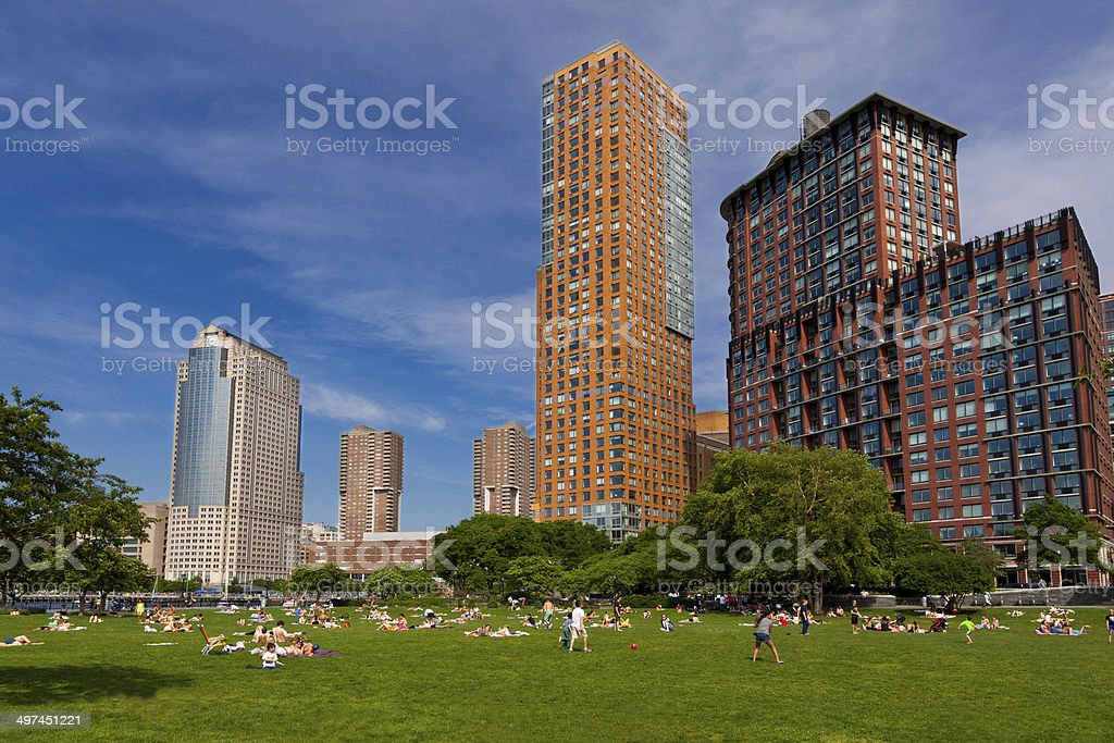 Battery Park City, New York City. stock photo