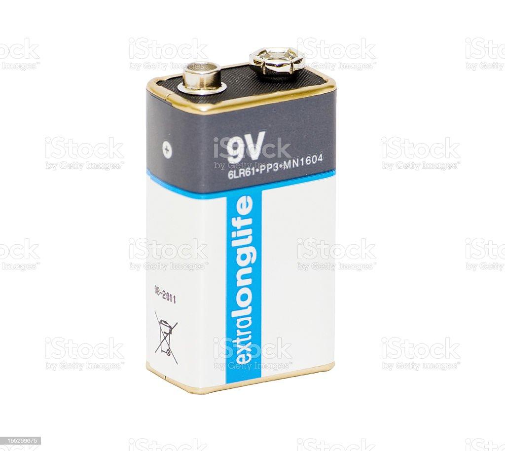 9V battery stock photo