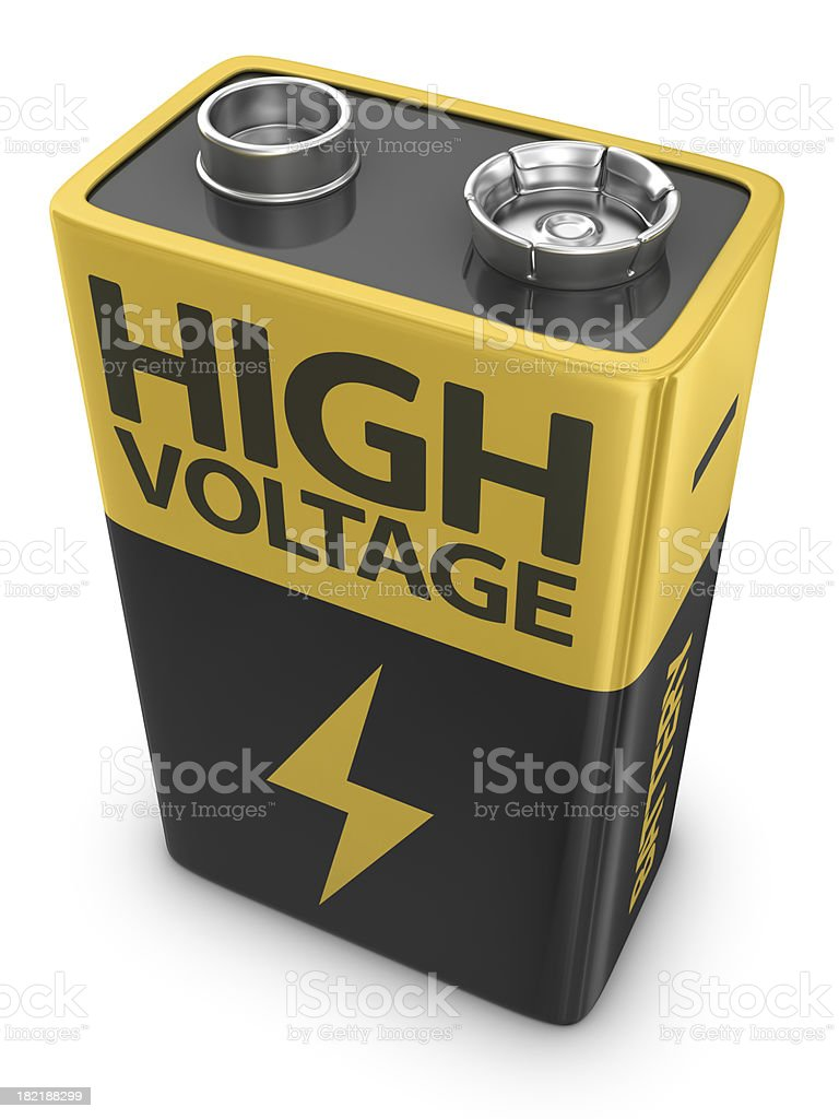 9V battery stock photo