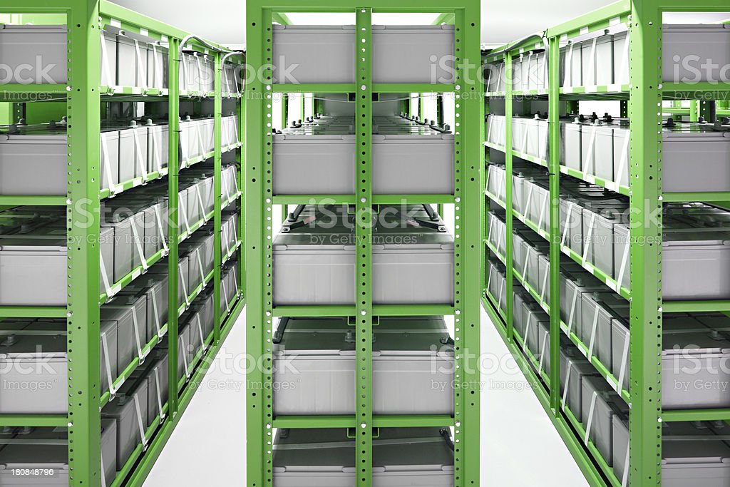 Battery room in datacenter royalty-free stock photo