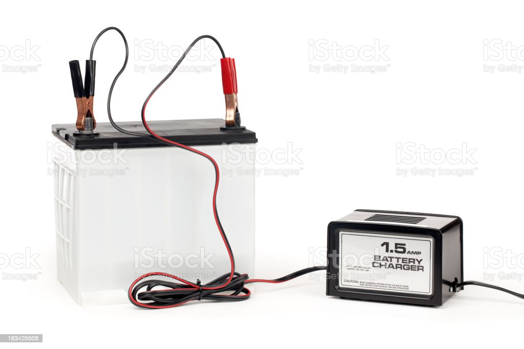 Battery with Charger stock photo