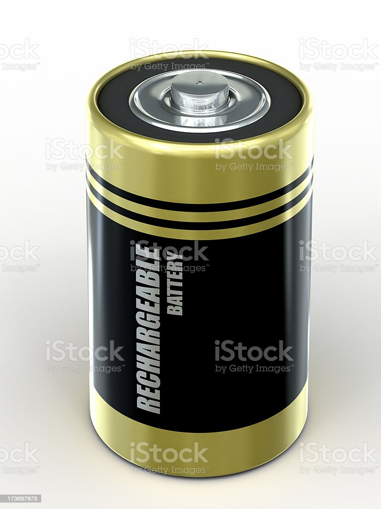 Battery with clipping path stock photo