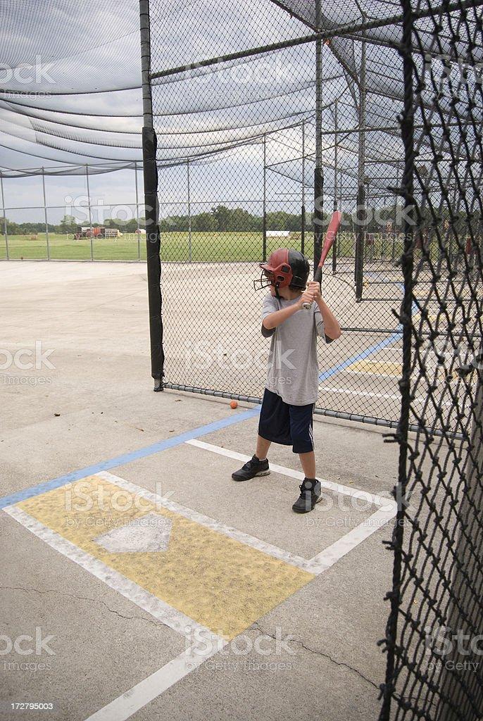 Batting Cage stock photo