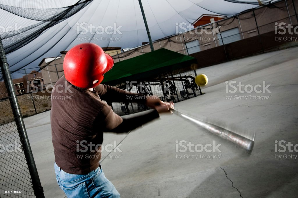 Batting Cages royalty-free stock photo