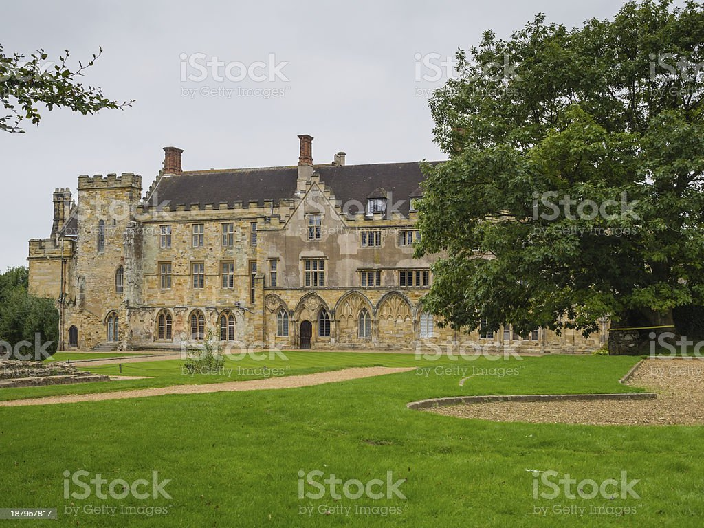 Battle Abbey at Hastings stock photo