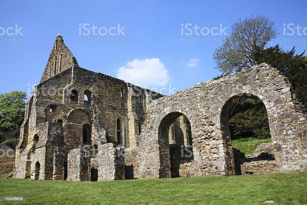Battle Abbey stock photo