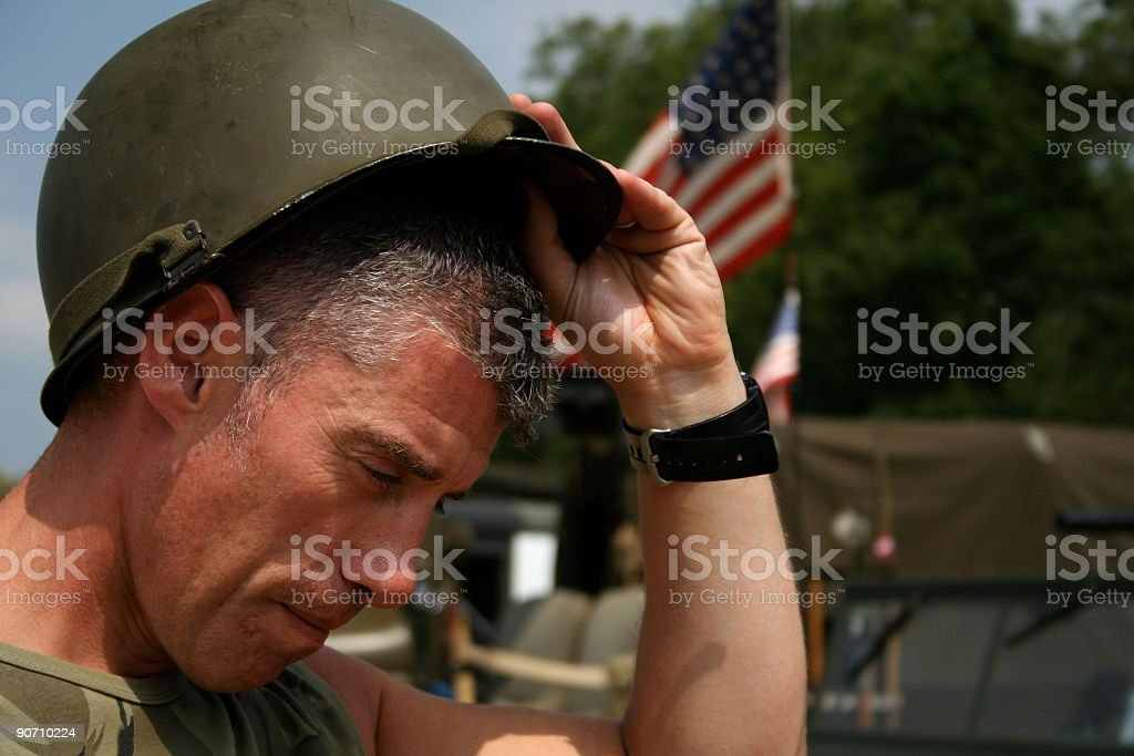 Battle Fatigue stock photo