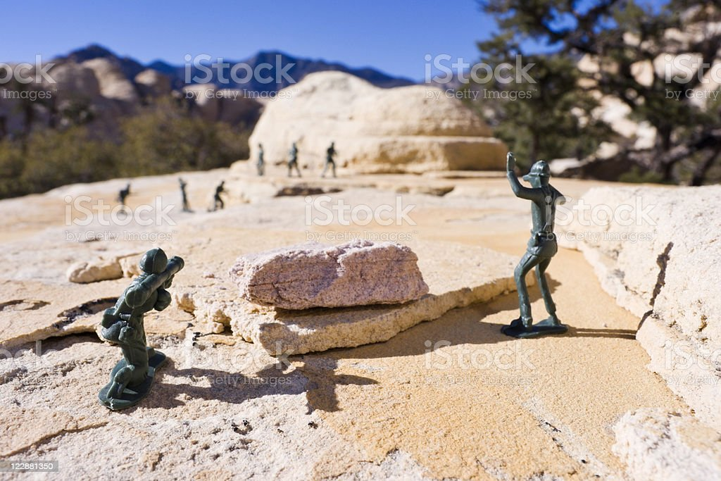Battle for the Sandstone Hills royalty-free stock photo