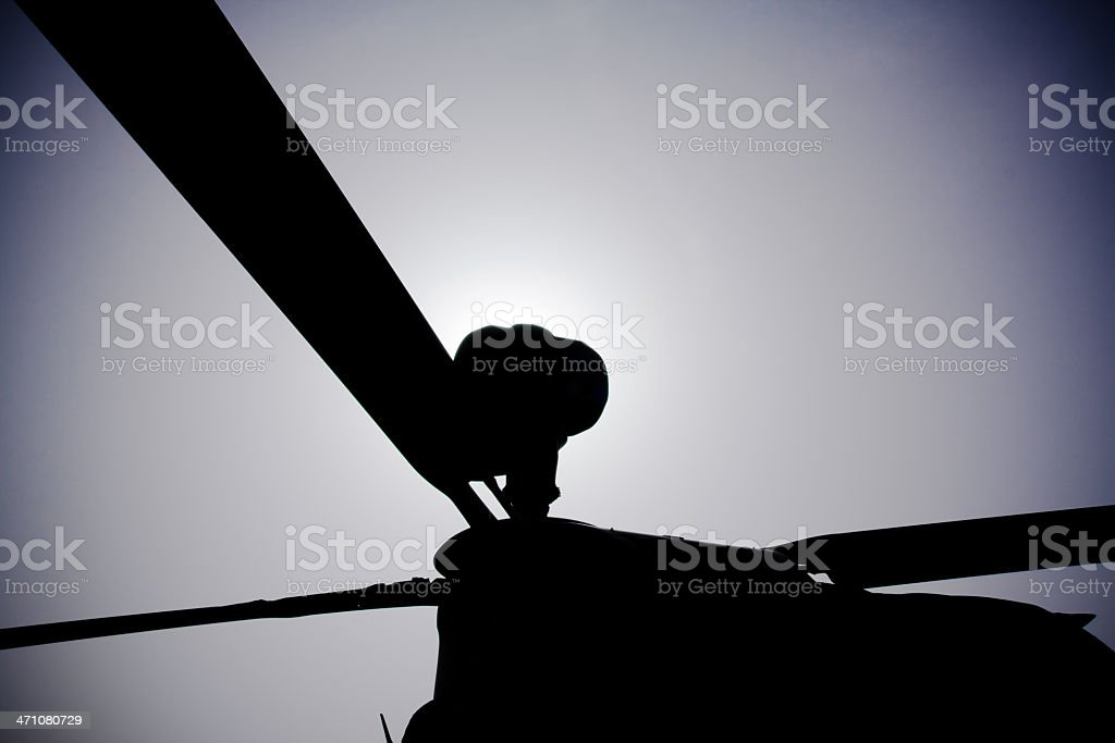 Battle Helicopter stock photo
