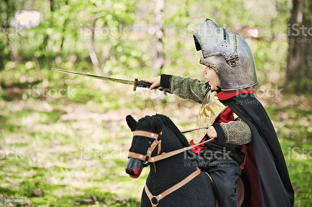 Battle in the wood stock photo