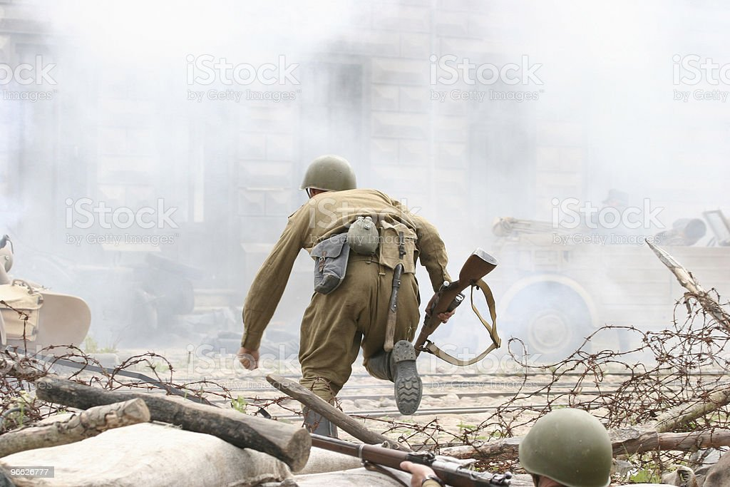 Battle incident stock photo