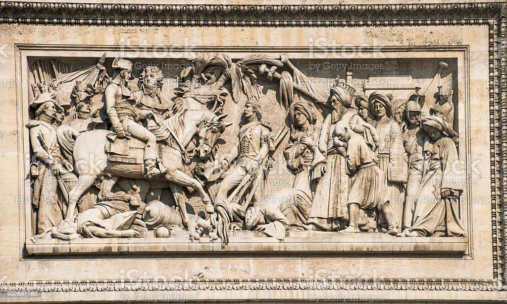Battle of Abukir 1799 stock photo