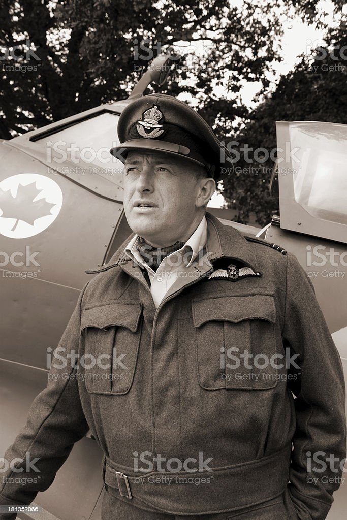 Battle of Britain Fighter ace. stock photo