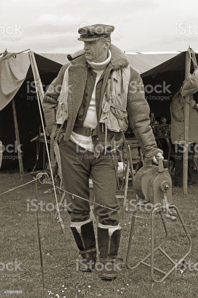 Battle of Britain Pilot. royalty-free stock photo