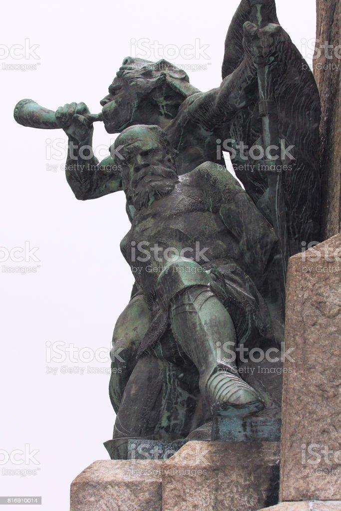battle of Grunwald Monument, Poland stock photo